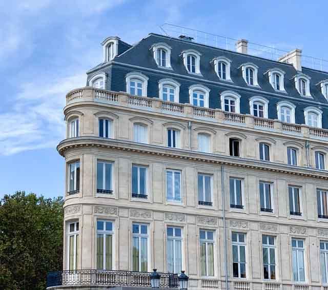 Un immeuble typique du style haussmannien