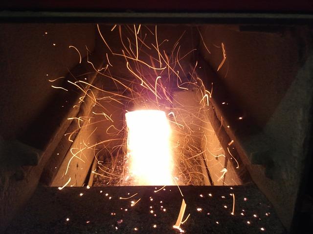 image d'un brûleur d'un poêle a granulé de bois