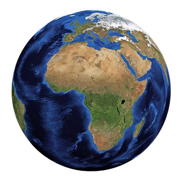 Image de la planète terre qui montre l'importance de l'eau