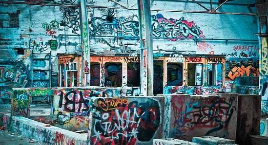 Des graffitis qui peuvent être effacé grâce à l'hydrogommage
