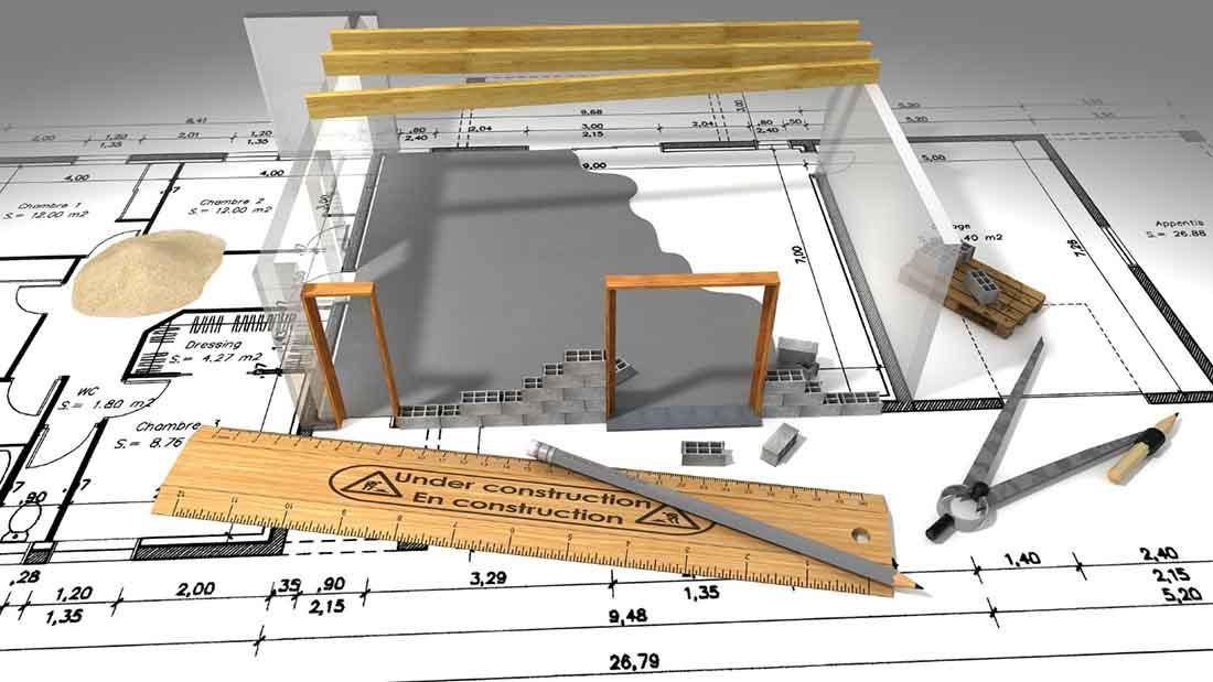 le plan d'une maison en 3d