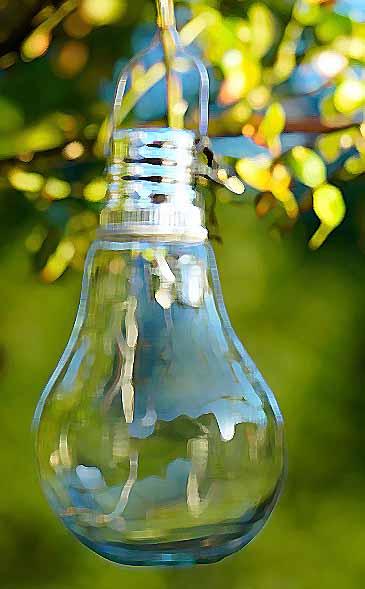 lumière d'extérieur : ampoule solaire