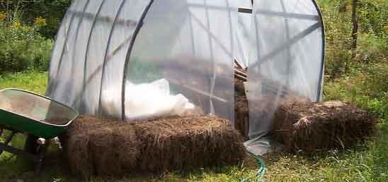 un potager sous une serre pour se protéger du gel tardif