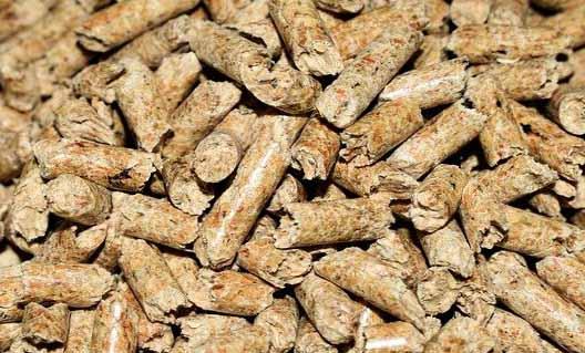 Des granulés de bois pour une chaudière