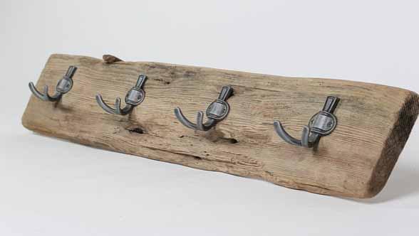 Porte-manteau en bois flotté 2