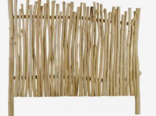 Image d'une tête de lit en bois flotté